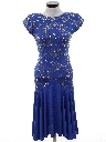 Womens Totally 80s Prom Or Cocktail Dress