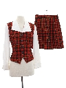 Womens Totally 80s Matching Shirt Skirt Set