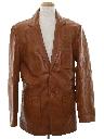 Mens Leather Blazer Sport Coat Jacket