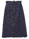 Womens Denim Maxi Skirt