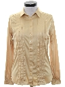 Womens Totally 80s Pleated Solid Disco Shirt