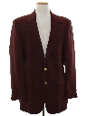 Mens Ron Burgundy Style Blazer Sport Coat Jacket