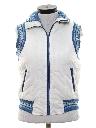 Womens Totally 80s Reversible Ski Vest Jacket
