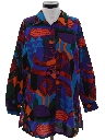 Womens Oversized Long Fit Totally 80s Shirt