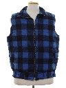 Mens Totally 80s Flannel Vest