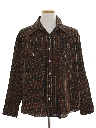 Mens Plaid Western Style Shirt