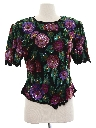 Womens Totally 80s Designer Sequined Cocktail Shirt