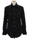 Mens Western Style Solid Disco Shirt