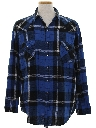 Mens Wicked 90s Grunge Flannel Western Shirt