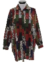 Womens Totally 80s Oversized Long Shirt