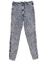 Womens Acid Washed Denim Jeans Pants
