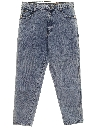 Womens Acid Washed Denim Jeans Pants