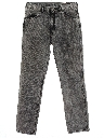 Mens Acid Washed Denim Jeans Pants