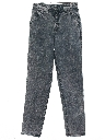 Womens Totally 80s Acid Washed Denim Jeans Pants