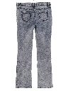 Womens Flared Acid Washed Denim Jeans Pants
