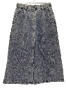 Womens Totally 80s Acid Washed Denim Skirt