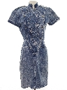 Womens Totally 80s Acid Washed Denim Dress