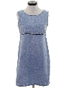 Womens Mini Denim Dress