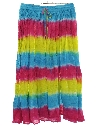Womens Tie Dye Hippie Broomstick Skirt