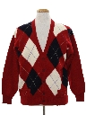 Mens Wool Cardigan Sweater
