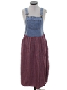 Womens Denim Jumper Dress