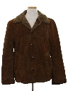 Mens Western Style Suede Leather Car Coat Jacket
