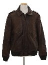 Mens Bomber Leather Flight Jacket