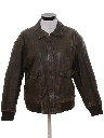 Womens Bomber Leather Flight Jacket