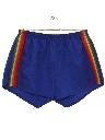 Mens Totally 80s Rainbow Running Sport Shorts