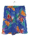 Womens Totally 80s High Waisted Hawaiian Shorts