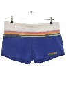 Mens Totally 80s Rainbow Swim Shorts