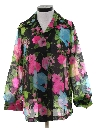 Womens Sheer Floral Shirt
