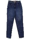 Womens Tapered Leg High Waisted Denim Jeans Pants