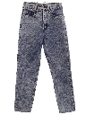 Womens High Waisted Acid Washed Denim Jeans Pants