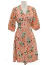 Womens Print Knit Dress