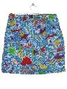 Mens Totally 80s Baggy Print Shorts