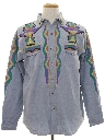 Mens Hand Painted Denim Shirt