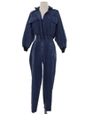 Womens Totally 80s Denim Jumpsuit