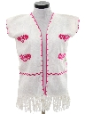 Womens Embroidered Hippie Vest