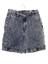 Womens Acid Washed Denim Shorts