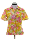 Womens Hippie Style Print Disco Shirt