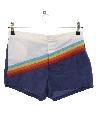 Mens Totally 80s Rainbow Swim Shorts