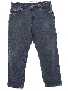 Mens Wicked 90s Wide Tapered Leg Denim Jeans Pants