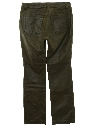 Womens Leather Jeans Style Flared Pants