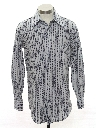 Mens Print Disco Style Knit Shirt