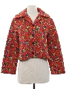 Womens Cropped Hippie Style Jacket