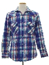 Mens Totally 80s Flannel Western Shirt