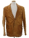Mens Leather Blazer Sport Coat Jacket
