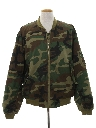 Mens Army Military Zip Work Jacket