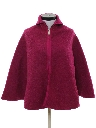 Womens Reversible Wool Poncho Jacket